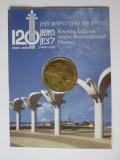Rara! Medalie aniversara Israel in folderul original:Rishon Lezion 120 ani 2002, Asia