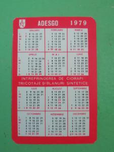 CCO - CALENDARE FOARTE VECHI - ANUL 1979 - NR 4