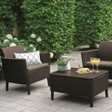Set mobilier pentru balcon maro Keter Salemo