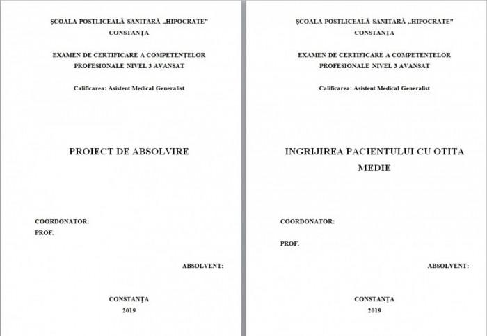 LUCRARE DE LICENTA AMG – INGRIJIREA PACIENTULUI CU OTITA MEDIE (1)