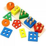 Joc de sortare, 5 coloane cu forme geometrice, OEM