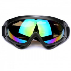 Ochelari unisex ski, snowboard si multe alte sporturi, lentila multicolora