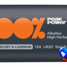 Baterie ultra alcalina Peakpower R20 (D) 2 buc/blister