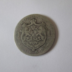 Romania 1 Leu 1881 argint
