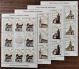 ROMANIA 2012 - Biserici de piatra din Hateg Minicoli de 8 timbre MNH - LP 1959 d, Religie, Nestampilat
