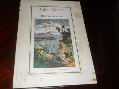 INSULA CU ELICE - JULES VERNE -1978, Ed  Ion Creanga Traducere Ion Hobana foto