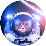 Suport PopSockets universal PopGrip Catstronaut