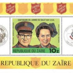 Zaire 1980 - Salvation Army, colita neuzata
