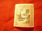 Timbru British Guiana 1899 supratipar 2C/10C ,sarniera - Cascada, Nestampilat