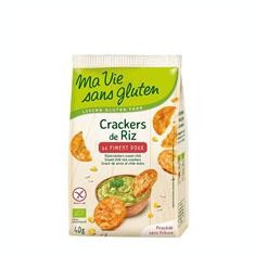 Crackers Bio din Orez cu Ardei Dulce Fara Gluten Ma Vie Sans Gluten 40gr Cod: 3380380077975