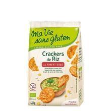 Crackers Bio din Orez cu Ardei Dulce Fara Gluten Ma Vie Sans Gluten 40gr Cod: 3380380077975 foto
