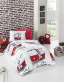 Cumpara ieftin Lenjerie de pat pentru copii Valentini Bianco model San Francisco Red
