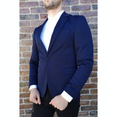 Sacou bleumarin sacou barbat sacou elegant sacou slim fit - cod 207