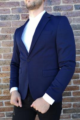 Sacou bleumarin sacou barbat sacou elegant sacou slim fit - cod 207 foto