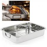 Tava pentru cuptor cu grill detasabil din inox 40cm IGT40 JU
