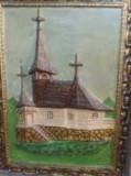 Tablouri cu biserici sculptate din material rezistent