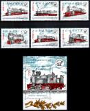 Romania 2002, LP 1592 + 1593, Locomotive cu abur serie+colita, MNH! LP 20,50 lei, Transporturi, Nestampilat