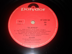 SLADE: Slayed? (1973)(vinil stare Ex/Ex, Made In France)