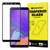 Folie Sticla Securizata, Super - Rezistenta , Samsung Galaxy A7 2018 , Negru