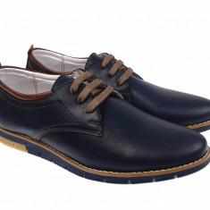 Pantofi casual - sport barbati din piele naturala bleumarin - TENBOXYANISBLM