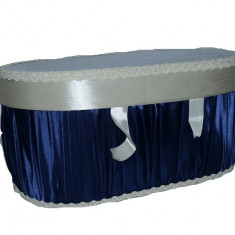Cutie eleganta pentru botez-NN CEB9BC, Bleumarin