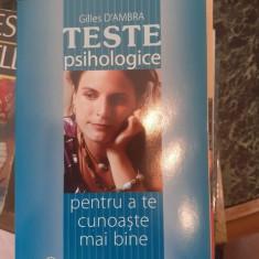 Teste psihologice pentru a te cunoaste mai bine – Gilles d'Ambra