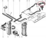 Suport electrovalva combustibil Renault Clio 1, original Renault 7700748608 Kft Auto