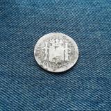 1 Peseta 1885 Spania argint