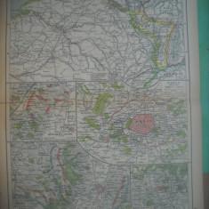 HOPCT DOCUMENT-HARTA VECHE NR 49 GERMANIA RAZBOI 1918 -D=320/250 MM LEIPZIG 1918