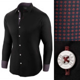 Camasa pentru barbati negru regular fit Business Class Ultra