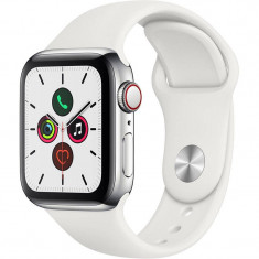 Smartwatch Apple Watch Series 5 GPS Cellular 40mm Stainless Steel Case White Sport Band S/M & M/L