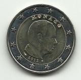 2 euro uzual Monaco 2012 Albert II, UNC