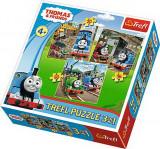 Puzzle Trefl 3in1 Thomas intra in actiune