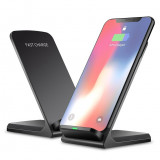 Incarcator wireless FAST Charge mod stand pt iPhone X 8 Samsung Note 8 S9 S8