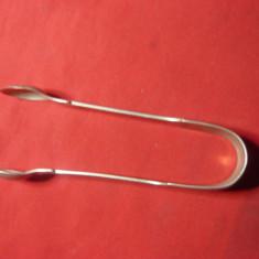 Clestisor pt cuburi de zahar - alpaca argintata , L= 10,7 cm