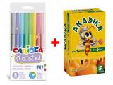 Cumpara ieftin Pachet Special: Carioca Pastel 8 set + Acadele Mutivitamine Akadika Propolis C 5 buc cut