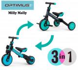 Tricicleta transformabila 3 in 1 Optimus Mint, Milly Mally