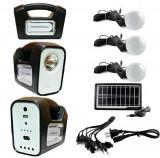 KIT SOLAR CU BECURI INCLUSE,ACUMULATOR,PANOU SOLAR,USB,LANTERNA,IDEAL CAMPING!