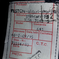 VESTON SUBTIRE OFITER MARINA GRANICERI,VESTON MARINA MILITARA-M.46 ,T.GRATUIT