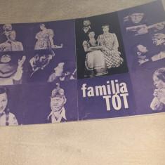 "PROGRAM TEATRUL NOTTARA 1978 SPECTACOL ""FAMILIA TOT"""