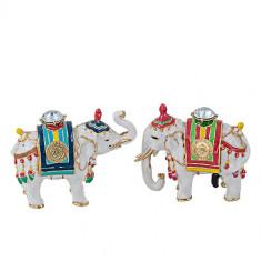 Pereche Elefanti cu Nestemata - caseta bijuterii