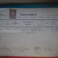 HOPCT DOCUMENT VECHI NR 295 CEHIA BOEMIA 1903 ECLEZIASTIC - LIMBA  GERMANA