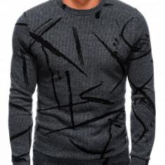 Bluza barbati B182 - gri-inchis