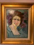 Mănciulescu- Portret de femeie, Portrete, Ulei, Altul