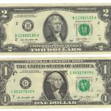 Lot Bancnote -USD- Statele Unite ale Americii 2 Dolari + 1 Dolar $ - 2013 / A026