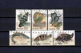 TANZANIA 1992 - CRUSTACEE. PESTI, timbre stampilate, AC15, Stampilat