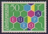 LIECHTENSTEIN 1960 - EUROPA CEPT - UNC, Nestampilat