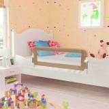 Balustradă protecție pat copii, gri taupe, 120x42 cm, poliester, vidaXL