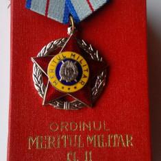 Ordinul Meritul Militar clasa a 2a  RSR -  medalie CEAUSESCU, anul 1985