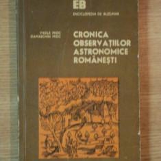 CRONICA OBSERVATIILOR ASTRONOMICE ROMANESTI de VASILE MIOC , DAMASCHIN MIOC